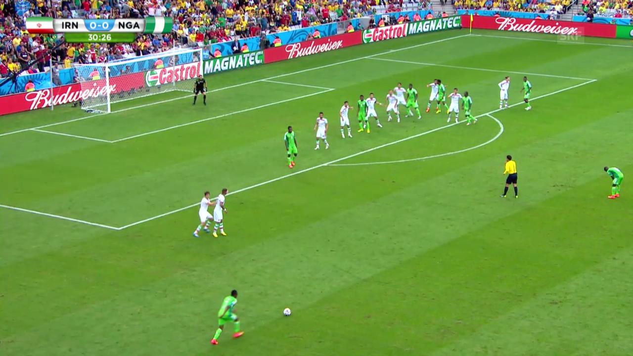Fussball: WM, Highlights Iran-Nigeria