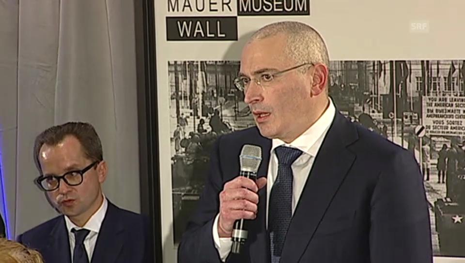 Chodorkowski bedankt sich bei Genscher und Merkel (englisch)