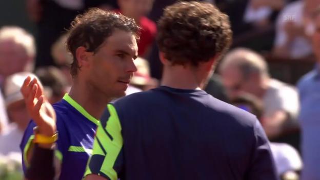 Video «Dank Doppelfehler: Nadal schlägt Haase» abspielen