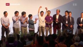 Video «Peking-Kritiker im Parlament von Hongkong» abspielen