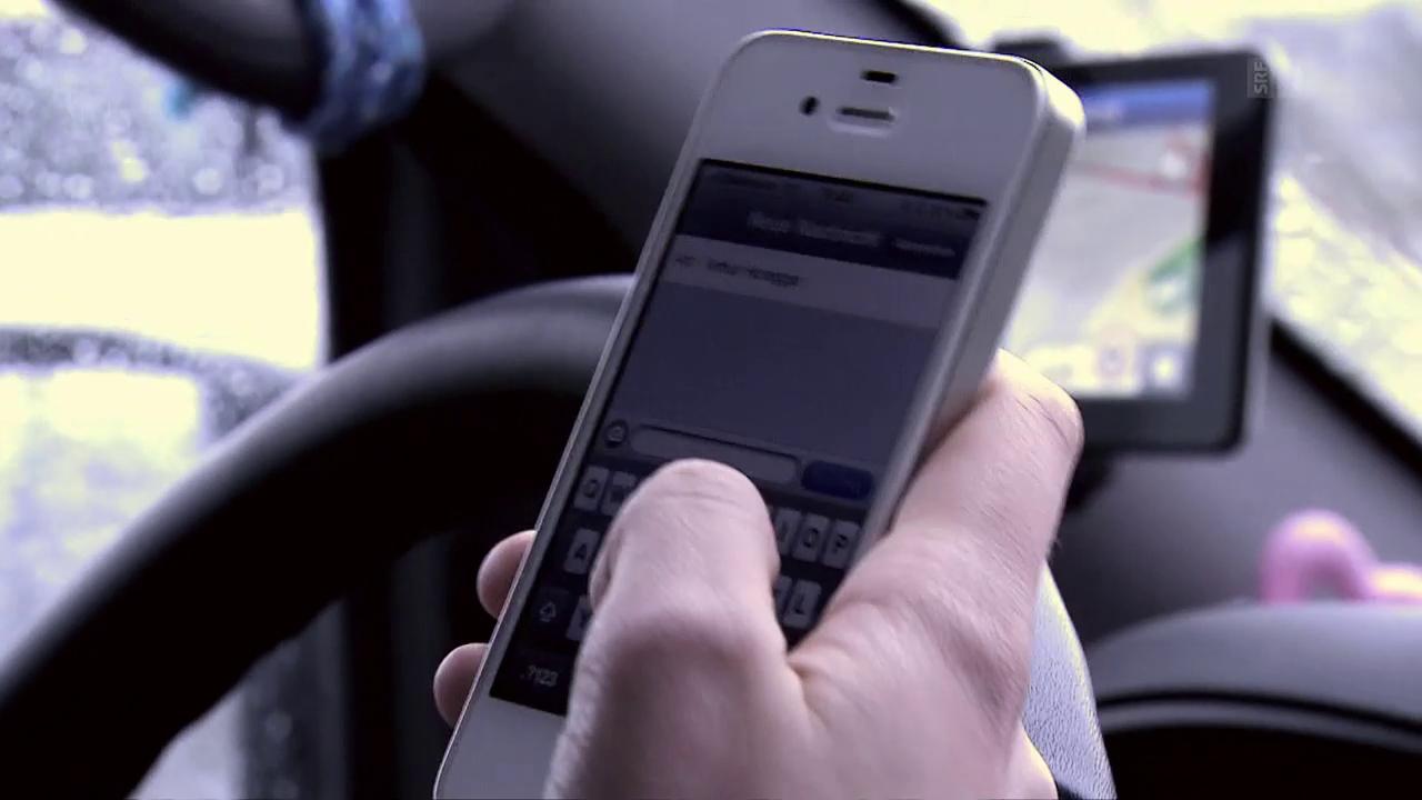 Autounfälle wegen Handy