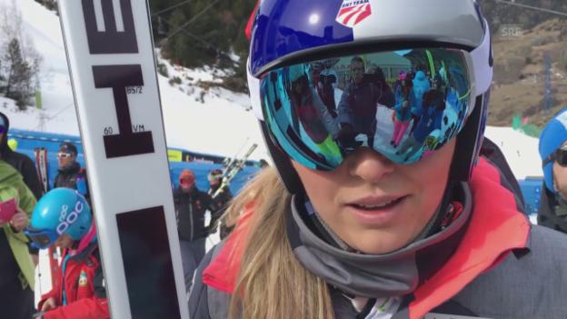 Video «Lindsey Vonn vor den Rennen in Soldeu» abspielen