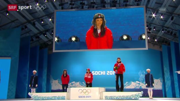 Video «Biathlon: Silber-Heldin Selina Gasparin am Tag danach (sotschi direkt, 15.02.2014)» abspielen