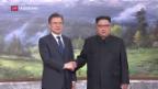 Video «Nord-/Südkorea: Überraschendes Treffen» abspielen