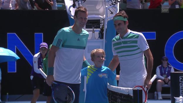 Video «Der erste Gradmesser wartet: Berdych fordert Federer» abspielen