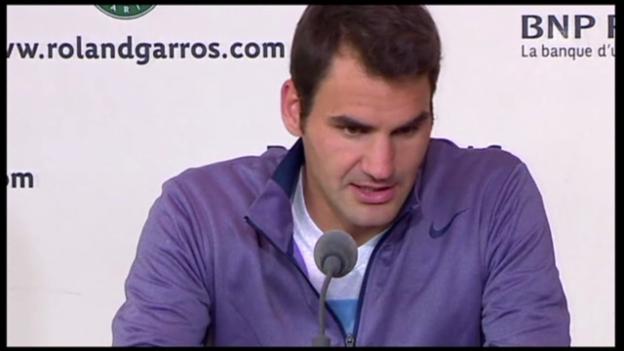 Video «Tennis: Roger Federer nach seinem 1.-Runden-Spiel» abspielen