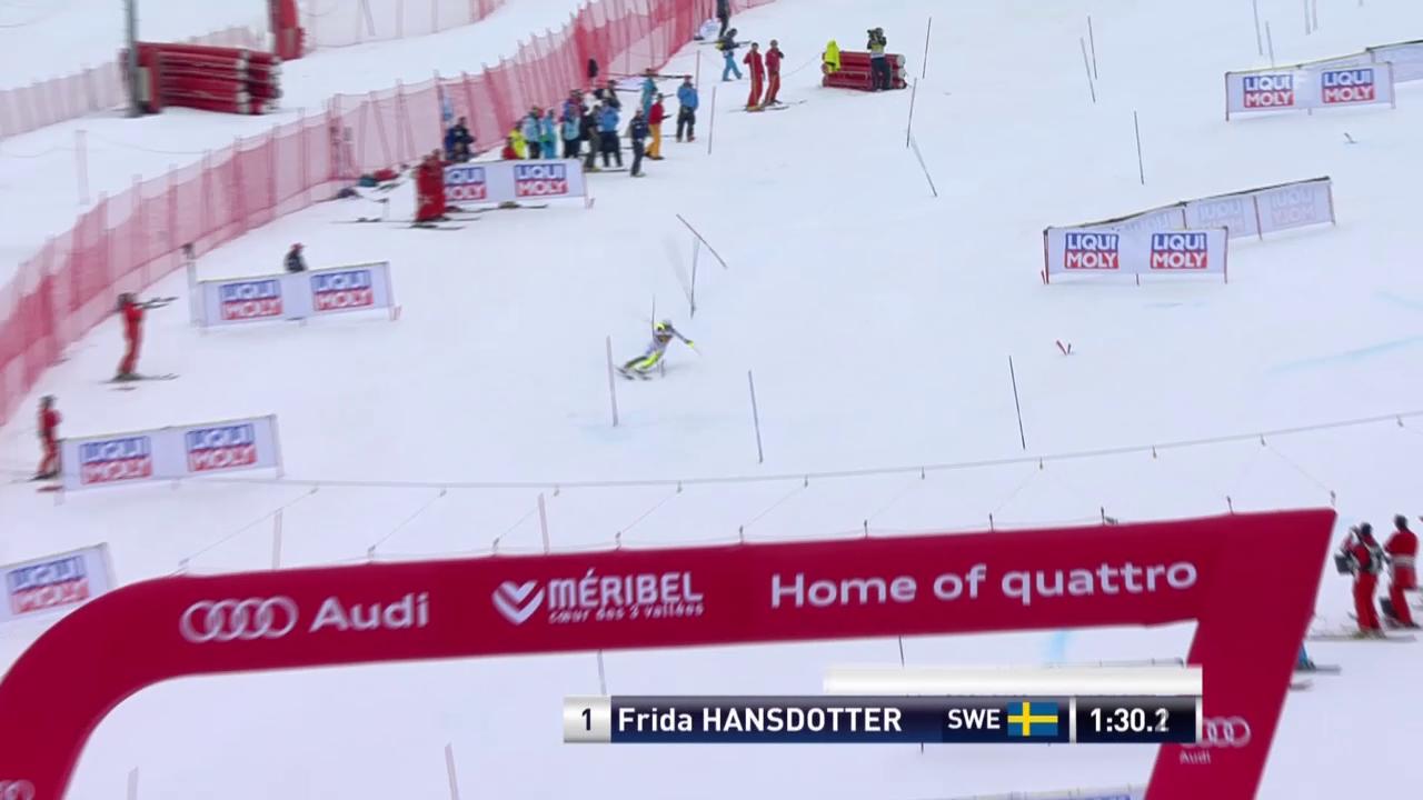 Ski: Slalom Frauen, Méribel, 2. Lauf Frida Hansdotter