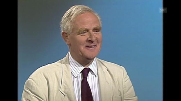 Video «John Le Carré auch über Privates», Sonntagsinterview, 3.9.1989» abspielen