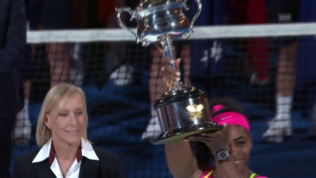 Video «Tennis: Australian Open, Final: Siegesrede Serena Williams» abspielen