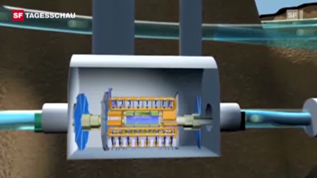 Im Beschleunigerring LHC fahnden die Cern-Forscher nach dem Higgs-Teilchen. (Tagesschau, 13.12.2011, 19.30 Uhr)