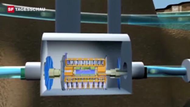 Video «Im Beschleunigerring LHC fahnden die Cern-Forscher nach dem Higgs-Teilchen. (Tagesschau, 13.12.2011, 19.30 Uhr)» abspielen