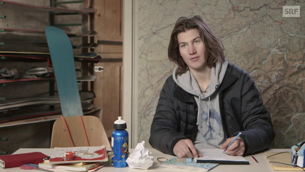 Profi-Snowboarder David Hablützel probiert's mit Französisch