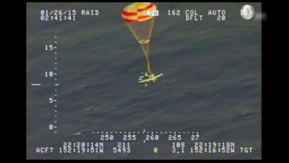 Flugzeugfallschirm rettet Piloten (unkomm.)