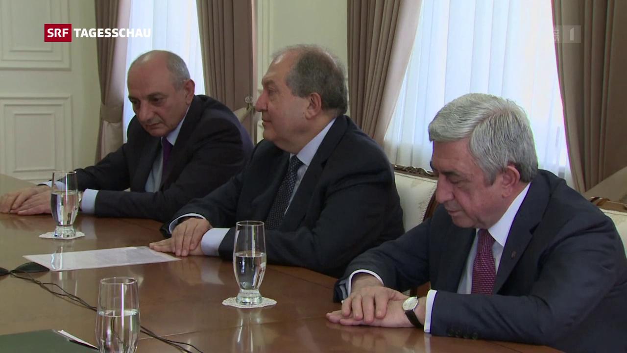 Armeniens Regierungschef tritt zurück
