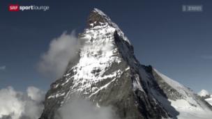 Video «Alpinismus – mit 150-jähriger Ausrüstung aufs Matterhorn» abspielen