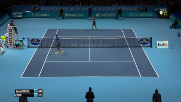 Video «Tennis: ATP Finals, Wawrinka - Cilic» abspielen