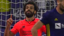Link öffnet eine Lightbox. Video Matchwinner Salah bei Liverpool-Gala abspielen