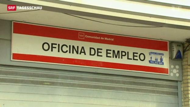Video «Rekordhoch bei Arbeitslosen in Frankreich und Spanien» abspielen