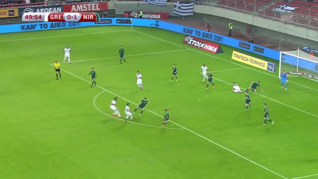 Video «Fussball: EM-Qualifikation, Gruppe F, Griechenland - Nordirland» abspielen