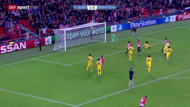 Video «Fussball: Champions League, Gruppe H, Zusammenfassung Bilbao - Borissow» abspielen