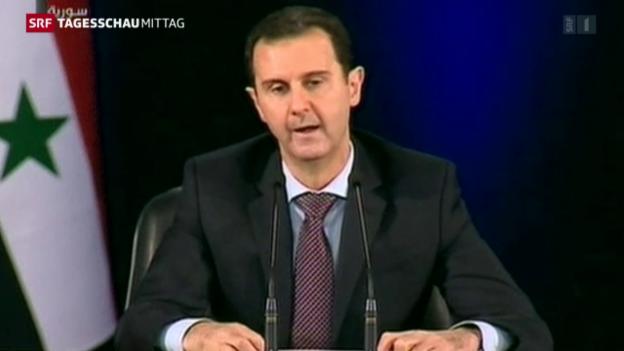 Video «Assad will die Waffen nicht ruhen lassen» abspielen