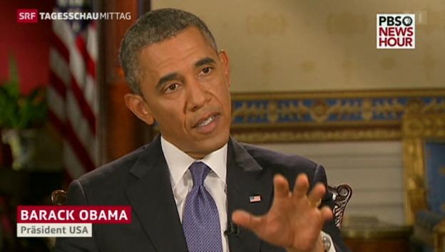 Video «Obama zur Möglichkeit einer diplomatischen Lösung» abspielen