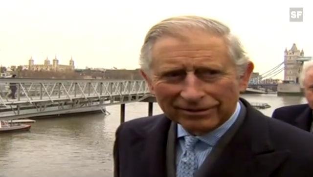 Prinz Charles freut sich auf sein Enkelkind (unkomm. Video)
