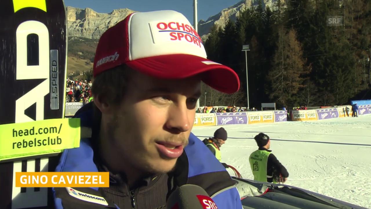 Ski: Riesenslalom Alta Badia, Interview Caviezel