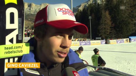 Video «Ski: Riesenslalom Alta Badia, Interview Caviezel» abspielen
