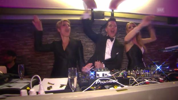 Video «Freymond, Epiney und Rigozzi am DJ-Pult (unkomm.)» abspielen
