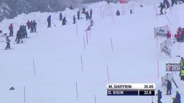 Video «Ski: Slalom Kranjska Gora, 1. Lauf von Dominque Gisin («sportlive», 02.02.2014)» abspielen