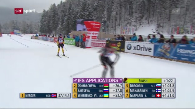 Video «Biathlon-Weltcup in Ruhpolding («sportpanorama»)» abspielen