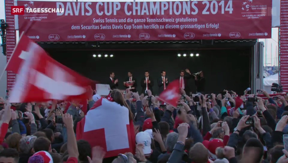 Tennis: Davis-Cup-Helden in Lausanne empfangen