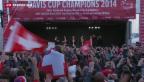 Video «Tennis: Davis-Cup-Helden in Lausanne empfangen» abspielen