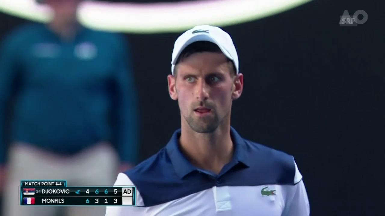 Djokovic - Monfils: Die wichtigsten Ballwechsel