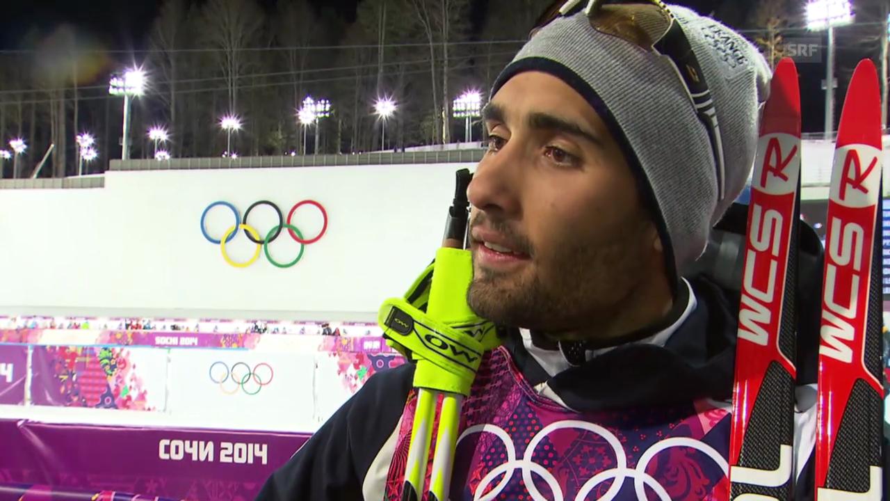 Biathlon, 20 km Einzel: Interview mit Martin Fourcade (sotschi direkt, 13.2.2014)