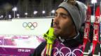 Video «Biathlon, 20 km Einzel: Interview mit Martin Fourcade (sotschi direkt, 13.2.2014)» abspielen