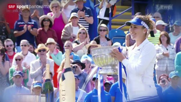 Video «Tennis: Studiogast Belinda Bencic, ganzes Gespräch» abspielen