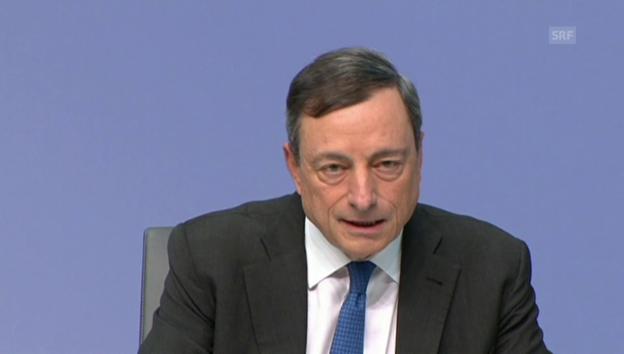 Video «Draghi über die Rolle der EZB bei Griechenland (englisch)» abspielen