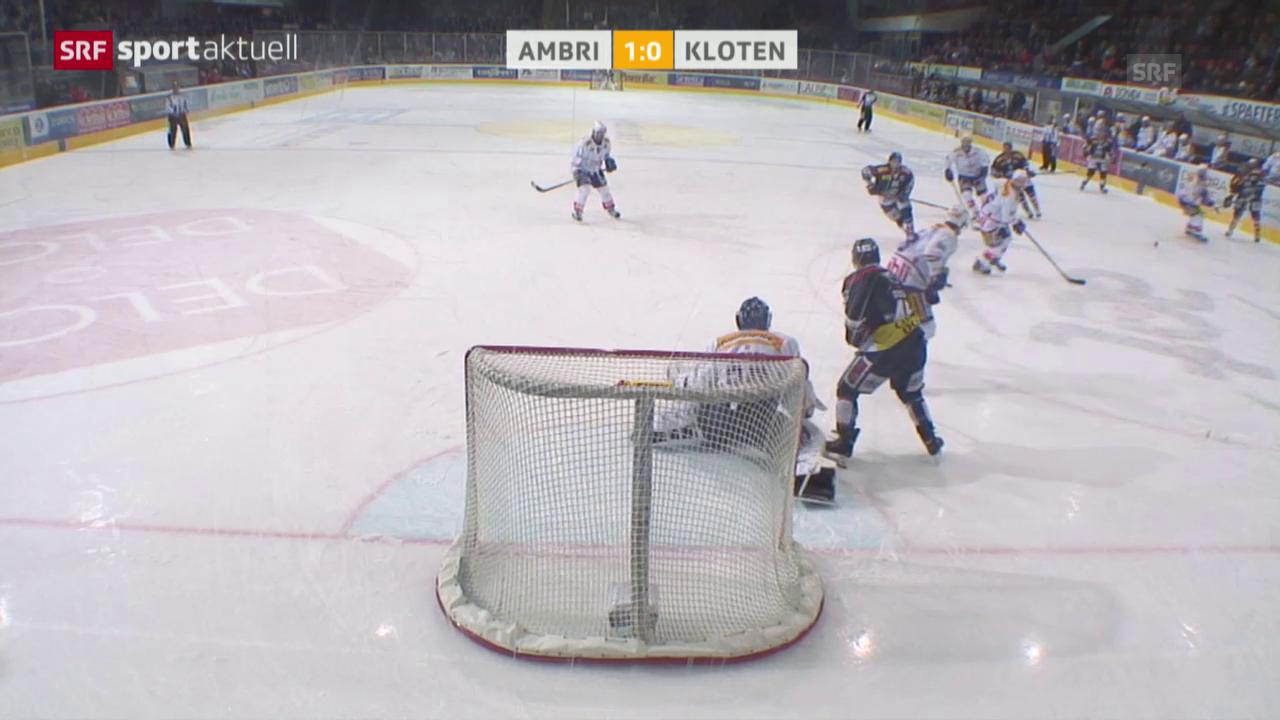 Eishockey: NLA, Ambri-Kloten und Feiburg-Lakers