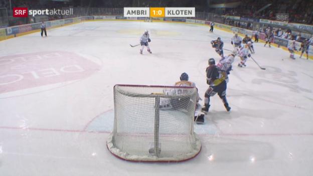 Video «Eishockey: NLA, Ambri-Kloten und Feiburg-Lakers» abspielen