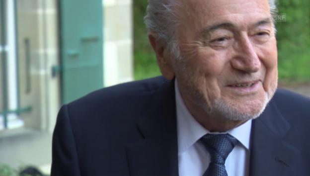 Video «Blatter: «Ich glaube an mich, an Gott und meinen Rechtsanwalt»» abspielen