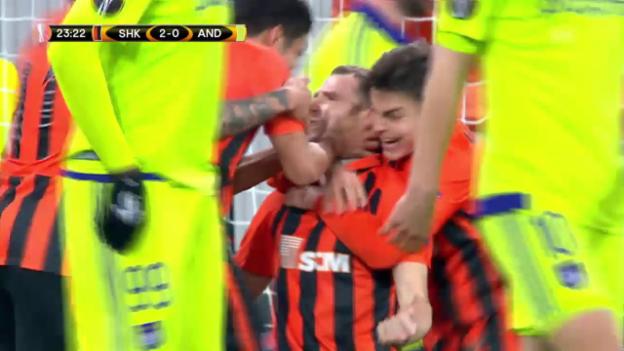 Video «Donezk bezwingt Anderlecht mit 3:1» abspielen