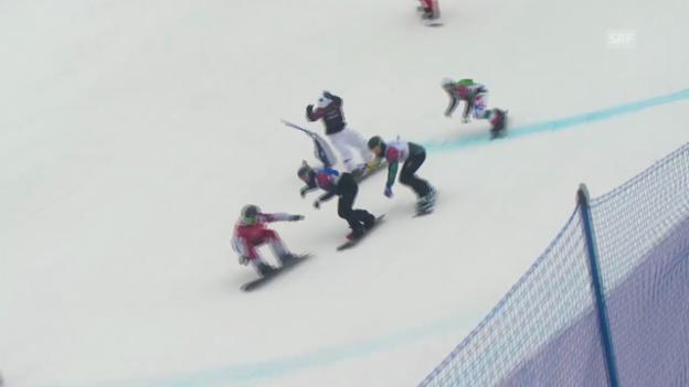 Video «Snowboard: Boardercross Männer, Viertelfinal Tim Watter (sotschi direkt, 18.2.2014)» abspielen