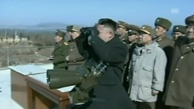 Video «Kim Jong Um leitet Militärmanöver» abspielen