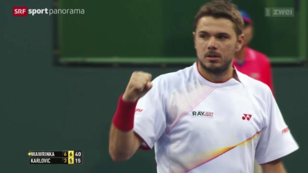 Video «Tennis: ATP 1000 in Indian Wells» abspielen
