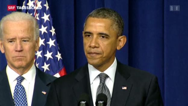 Video «Obama stellt Massnahmen gegen Waffengewalt vor» abspielen