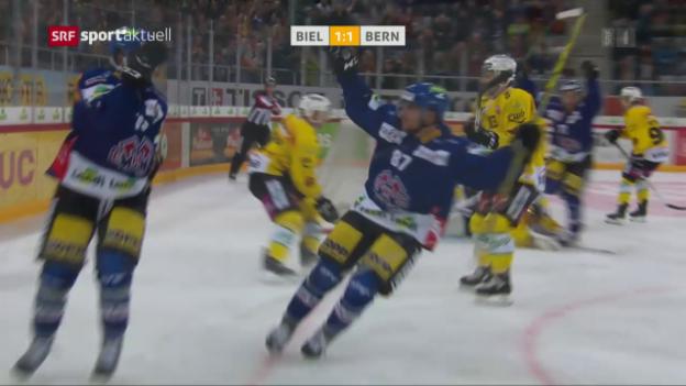 Video «Eishockey: NLA, Biel - Bern» abspielen