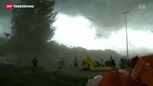 Video «Bilder des Sturms: Zeuge berichtet» abspielen