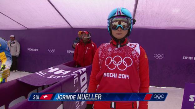 Video «Skicross: Frauen, Achtelfinal mit Jorinde Müller (sotschi direkt, 21.2.2014)» abspielen